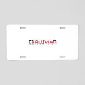 Cracovian Aluminum License Plate