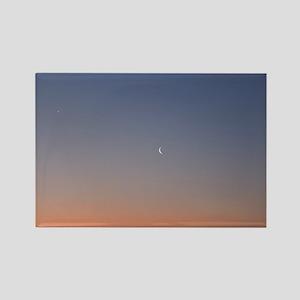 Moon at Sunrise Magnets