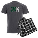Green Punch Men's Charcoal Pajamas