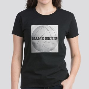 Personalized Volleyball Player Women's T-Shirt