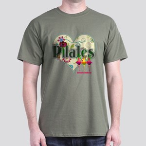 PIlates Fanciful Flowers Dark T-Shirt