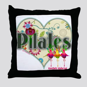 PIlates Fanciful Flowers Throw Pillow