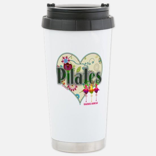 PIlates Fanciful Flowers Stainless Steel Travel Mu