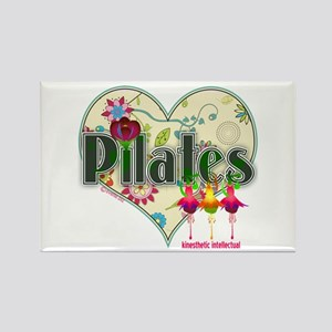 PIlates Fanciful Flowers Rectangle Magnet
