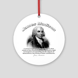 James Madison 06 Ornament (Round)