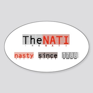 Nasty NATI (Cincinnati) Oval Sticker