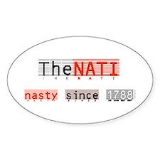 Nasty NATI (Cincinnati) Oval Sticker