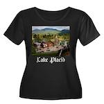 Lake Placid Women's Plus Size Scoop Neck Dark T-Sh