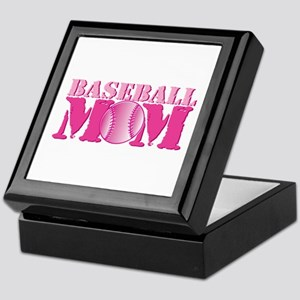 Baseball Mom pink Keepsake Box