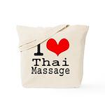 I love Thai Massage Tote Bag