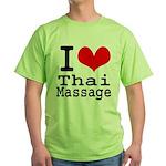 I love Thai Massage Green T-Shirt