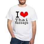 I love Thai Massage White T-Shirt