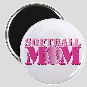Softball Mom pink Magnet