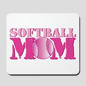Softball Mom pink Mousepad