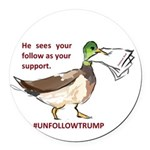 unfollowtrump Round Car Magnet