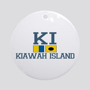 Kiawah Island SC - Nautical Design Ornament (Round