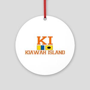 Kiawah Island SC - Nautical Design Ornament (Round