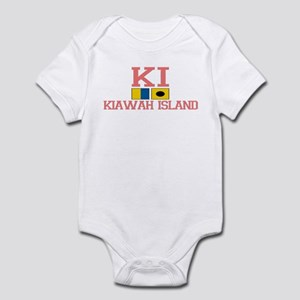 Kiawah Island SC - Nautical Design Infant Bodysuit