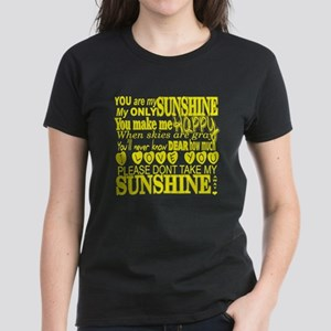 You Are My Sunshine Typography T-Shirt