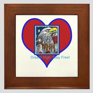 Patriotic Eagle: Dream High! Framed Tile