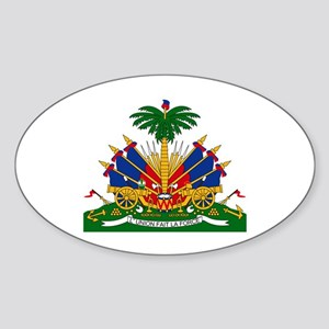 Haiti Coat of Arms Oval Sticker