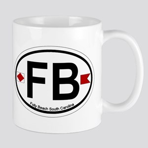 Folly Beach - Oval Design Mug