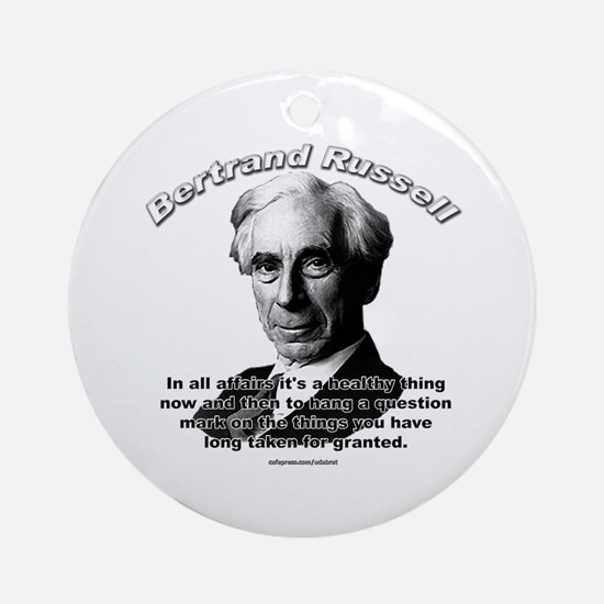 Bertrand Russell 01 Ornament (Round)