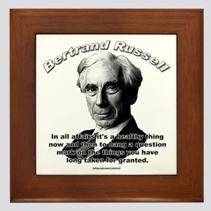 Bertrand Russell 01 Framed Tile