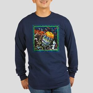 Conga Drum Close Up Dark Long Sleeve T-Shirt