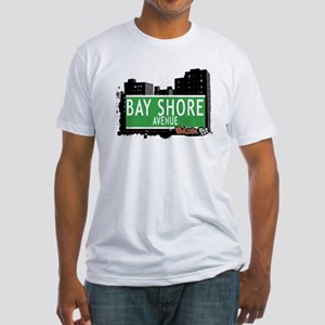 Bay Shore Av, Bronx, NYC Fitted T-Shirt