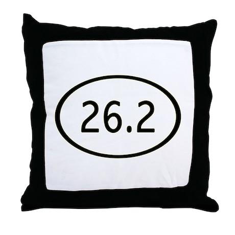 26.2 Miles Throw Pillow