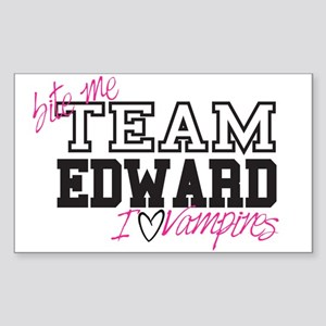 Team Edward Bite Me Rectangle Sticker