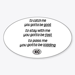 Catch Me - Oval Sticker