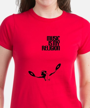 Music is my Religion Women's Dark T-Shirt