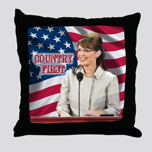 Country First Throw Pillow