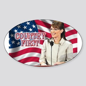Country First Oval Sticker