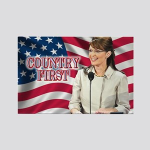 Country First Rectangle Magnet