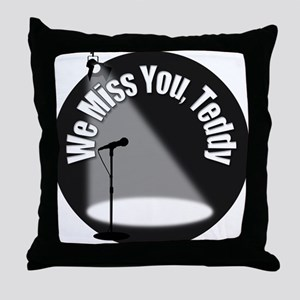 We Miss You Teddy Throw Pillow
