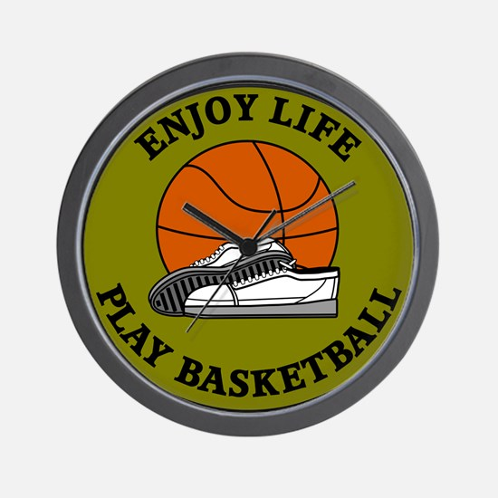 Enjoy Life Play Basketball Wall Clock