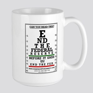 END THE FED Large Mug