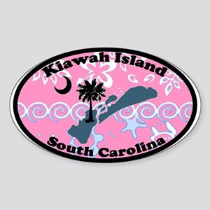 Kiawah Island SC - Oval Design Oval Sticker