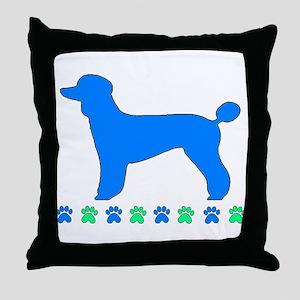 Poodle Paws Throw Pillow