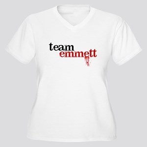 Team Emmett Women's Plus Size V-Neck T-Shirt