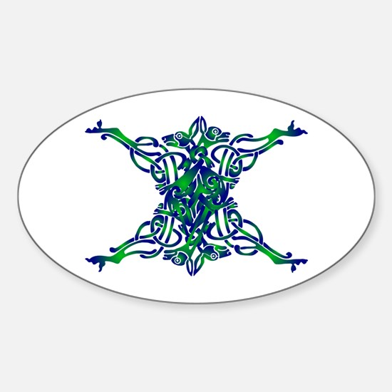 St. Patrick's Breastplate Sticker (Oval)