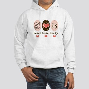 Peace Love Lucky 13 Hooded Sweatshirt