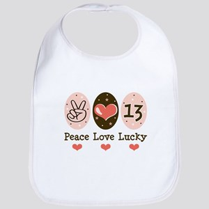 Peace Love Lucky 13 Bib