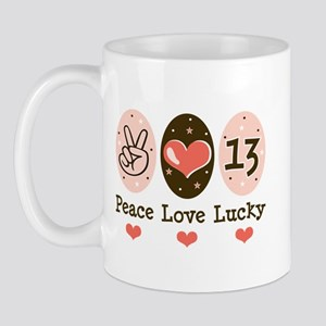Peace Love Lucky 13 Mug