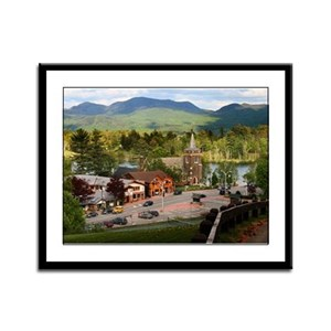 Lake Placid Framed Panel Print