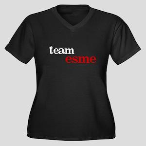 Team Esme Women's Plus Size V-Neck Dark T-Shirt