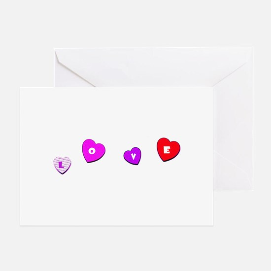 Love Hearts Valentine's Day Amor Greeting Card